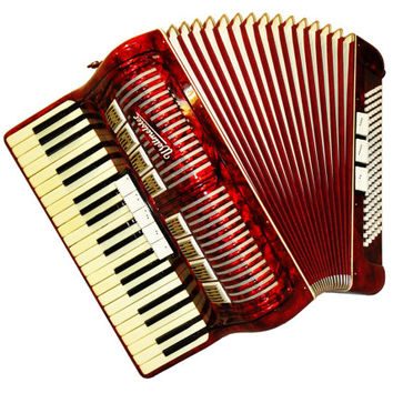 German Weltmeister, 120 Bass, 8 Registers, Case, Piano Accordion Instrument, 465