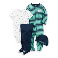 carter's Rocket 4-Piece Take Me Home Set in Green/Navy