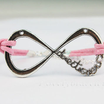 "One Direction Infinity Bracelet forever ""Directioner"" Infinite 1D Boy Band,friendship gift,bridesmaid bracelet,"