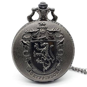 Antique Steampunk Black Berlin Germany Theme Bear Quartz Pocket Watch Necklace Chain Pendant Gift relogio de bolso XH3018