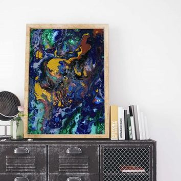Abstract Painting Art Poster Art Print Canvas