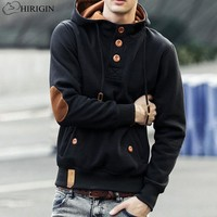Men's Winter Button Hoodie