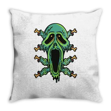 zombie smile Throw Pillow