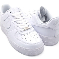 MENS NIKE AIR FORCE 1   All White Sneakers  315122-111