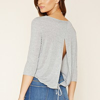 Contemporary Slit-Back Top