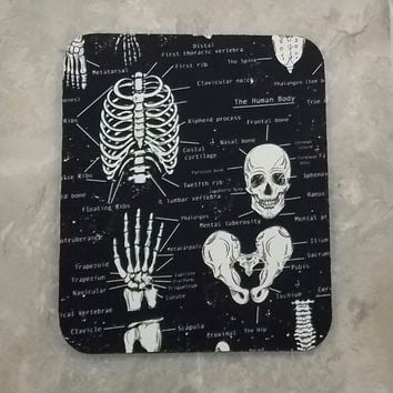 Free Shipping Anatomy Mouse Pad Bones Mouse Pad  Medical Mousepad Nurse Mouse Pad Doctor Office Mouse Pad Skull Mouse Pad  Teacher Mouse Pad