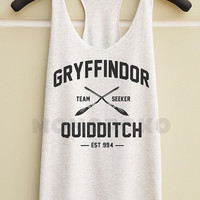 S M L - Gryffindor Shirts Harry Potter Quidditch TShirts Women Tank Top Racer Shirts Women Racer Tank Top Tunic Women TShirts Women T-Shirts