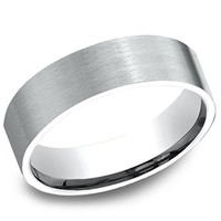 Benchmark 6MM Comfort Fit Satin Finish Mens Wedding Band