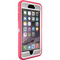 "OtterBox Defender Series iPhone 6 Plus ONLY Case (5.5"" Version), Retail Packaging, NEON ROSE (WHISPER WHITE/BLAZE PINK)"
