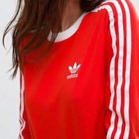 Tagre™ Adidas Women Fashion Top Sweater Pullover Sweatshirt