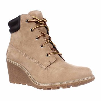 Timberland Earthkeepers Amston Wedge Ankle Boots, Wheat, 6 US / 37 EU