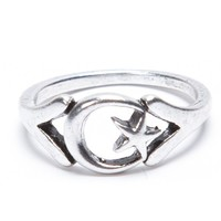 Brandy ♥ Melville |  Silver Crescent Moon Ring - Just In