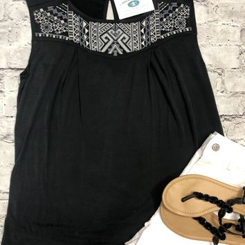 Head Over Heals Peasant Top in Black