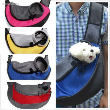 Dog/Cat Sling Front Travel Tote Shoulder Bag