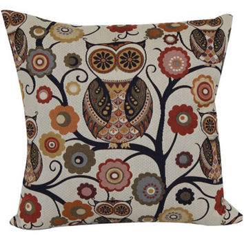 Jcpenney Decorative Throw Pillows : Wise Old Owl Jacquard Decorative Pillow - from JCPenney