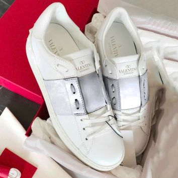 Valentino casual shoes million years classic color matching series sneakers silver