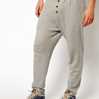 Solid Sweatpants With Drop Crotch