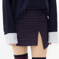 SEEKSlit Detail Check Skort | mixxmix