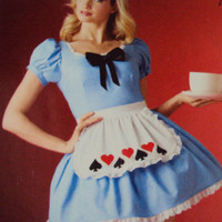 Alice in wonderland costume Handmade sizes 8 to 40 plus
