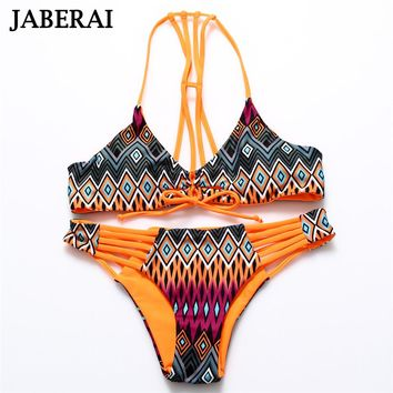 String Swimwear Women Strappy Bandage Bikini Set Hollow Out Bottom Reversible Swimsuit Sexy Bathing Suit