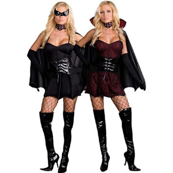 Dreamgirl Womens Twice Bitten Halloween Party Vampire Costume