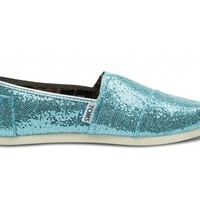 Turquoise Youth Glitters | TOMS.com