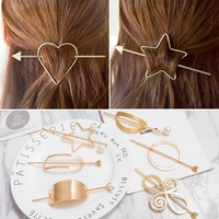 2017 New  Girls Fashion Hair Claws Hair Accessories for Women Simple Hair Grip Arched Hair Clips Girls Ponytail Clamp Pins MT-59