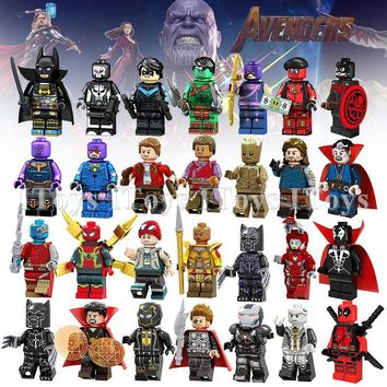 Deadpool Dead pool Taco Legoing Marvel Avengers Infinity War Thanos  Iron Man Batman Spiderman Thor Figures Super Heroes Building Blocks Toys AT_70_6