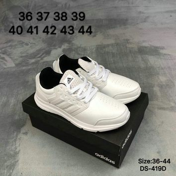 Adidas Galaxy Trainer Men and Women White Fashion Outdoor Sports Running Shoes