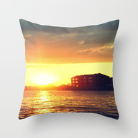 Life By the River Throw Pillow by 2sweet4words Designs