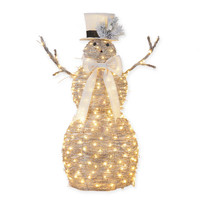 48-Inch LED Lighted Snowman
