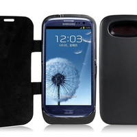 3500mAh External Backup Battery Case for Samsung Galaxy S3/i9300 (Black)