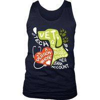 Vet Tech Tank Top - A person whose heart is bigger than their Bank Account