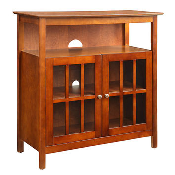 Convenience Concepts 8066070CH Big Sur Cherry Highboy TV Stand