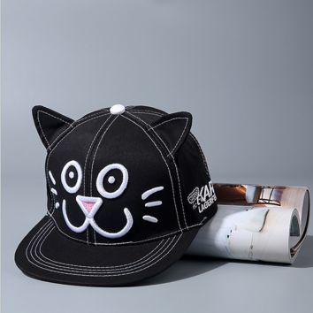 Cute Kitty Cat Embroidered Baseball embroidered cap Hat