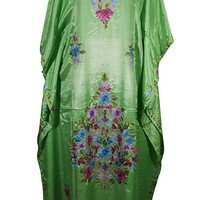 Mogul Womens Caftans Floral Embroidered Stylish Kaftan Cover Up Maxi Dress