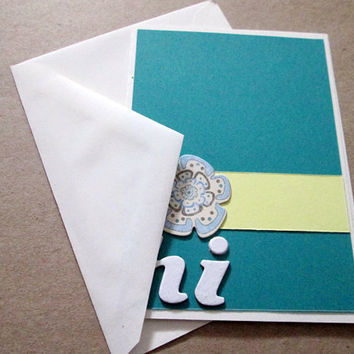 Blank Card Hi Green, Yellow