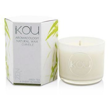 Eco-Luxury Aromacology Natural Wax Candle Glass - Zen (Green Tea & Cherry Blossom) - (2x2) inch