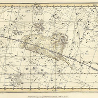 Aries, Musca Borealis, Antique map of the Moon, ancient maps, constellation, galaxy, 20