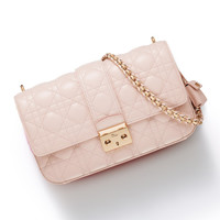 'MISS DIOR' BAG ROSE POUDRE LAMBSKIN WITH SHOULDER STRAP