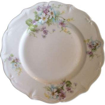 Set of 8 French Limoges Ahrenfeldt Dinner Plates (one extra!)
