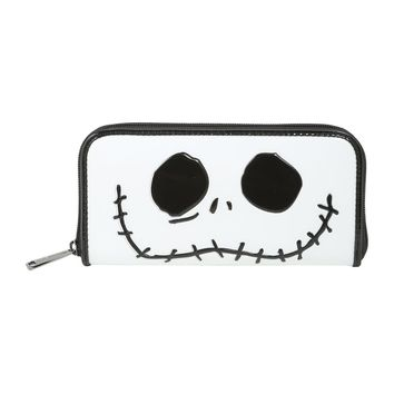 Licensed cool Disney The Nightmare Before Christmas Jack Smile LE Patent Zip Around Wallet NEW