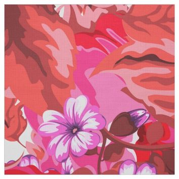 Colorful flower pattern fabric