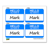 Mark Hello My Name Is - Sheet of 4 Stickers