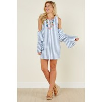 Story Of You Blue Striped Dress