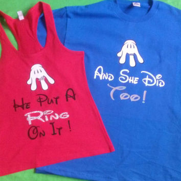 Disney Put A Ring On It Couples Just Married T-Shirts