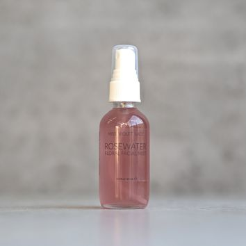 miss violet lace - rosewater floral facial mist - travel size
