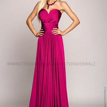 infinity dress, bridesmaid dress, Fuchsia Dress, Long dress, Evening dress, Evening gowns, Formal Dress, summer dress, convertible dress