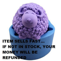 Cartoon Curly sheep Craft Art Silicone Soap mold Craft Molds DIY FREE Shipping