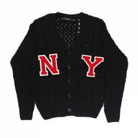 NY KNIT CARDIGAN MEN / BLACK